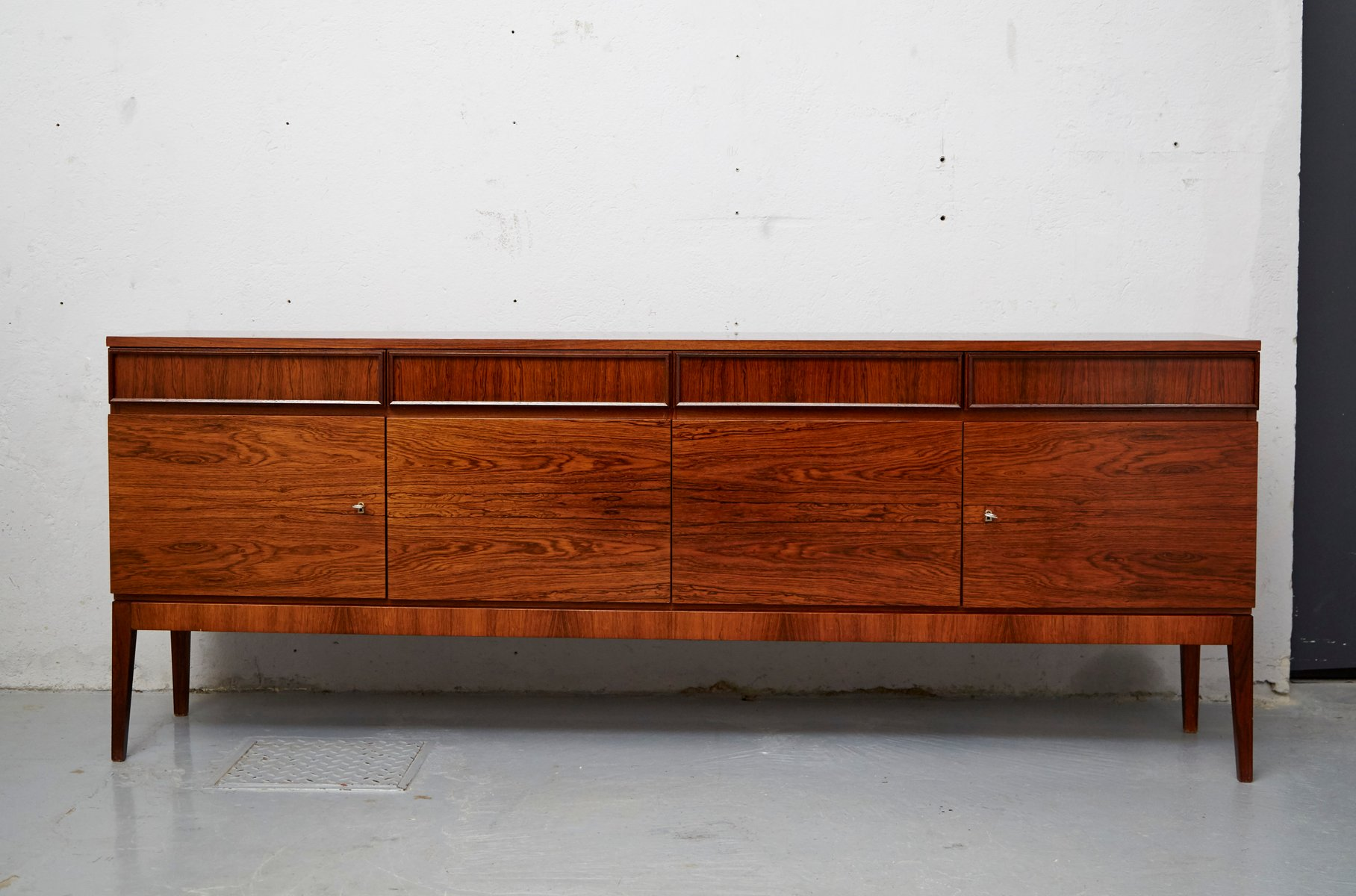 mid century rosewood veneer sideboard from musterring for sale at pamono. Black Bedroom Furniture Sets. Home Design Ideas
