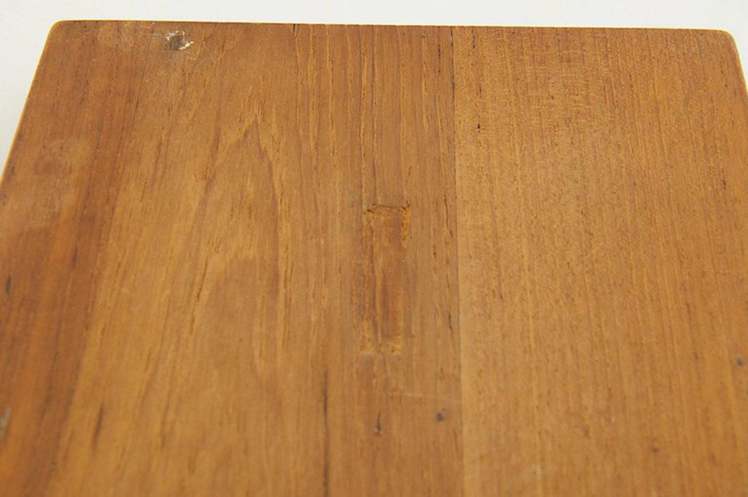 Scandinavian Wood And Metal Ashtray 1950s For Sale At Pamono