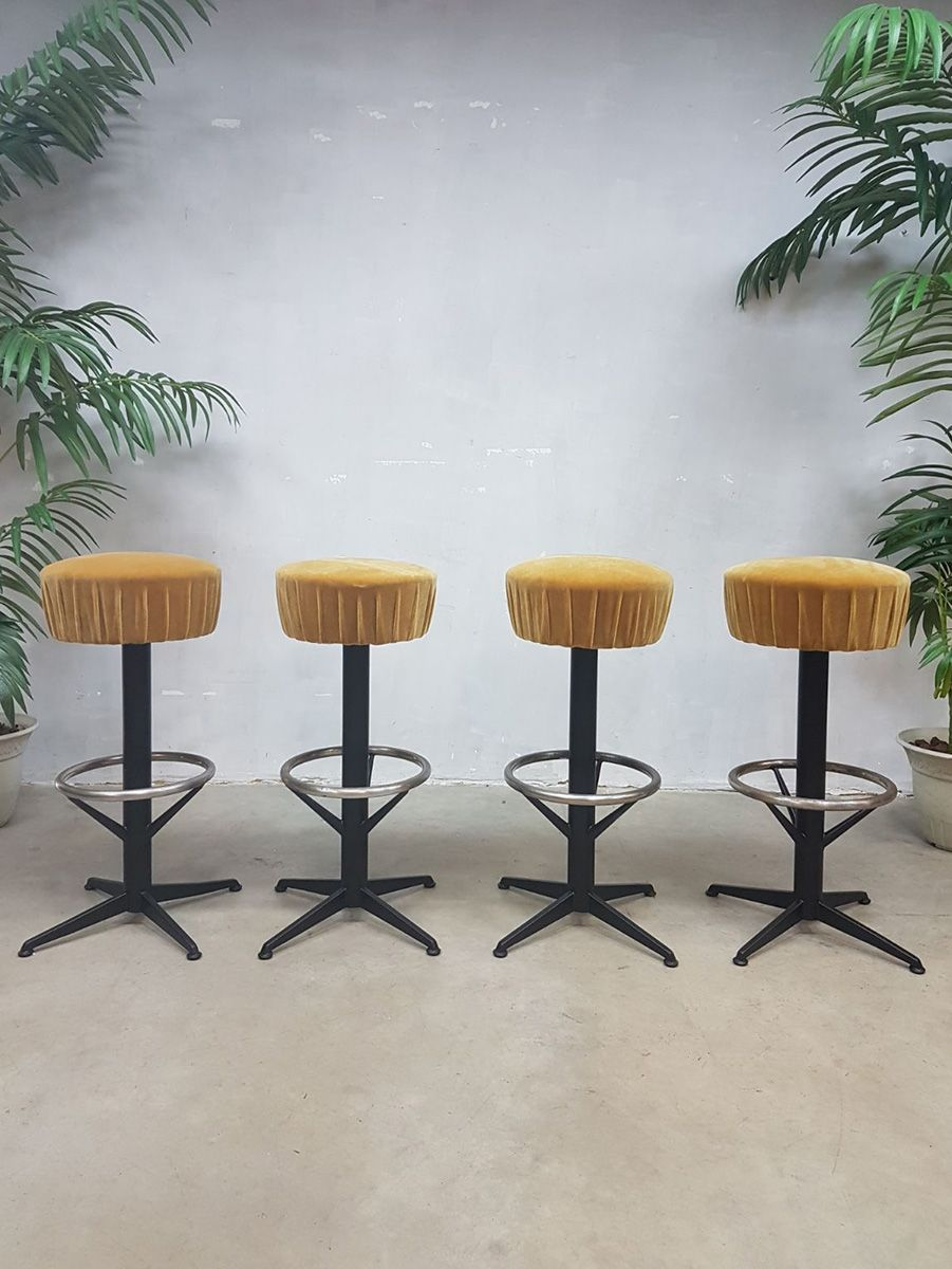 Vintage Bar Stools 1960s Set Of 4 For Sale At Pamono