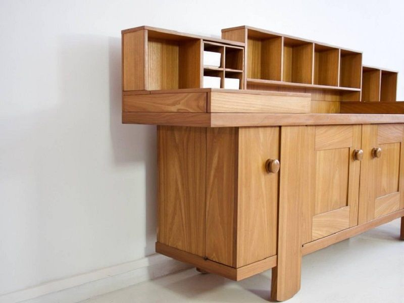 Oak Buffet Cabinet by Silvio Coppola for Bernini, 1964 for sale at ...