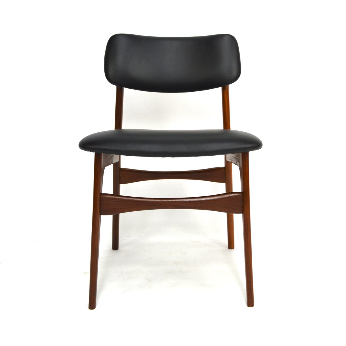 Scandinavian Teak Amp Leather Dining Chairs 1960s Set Of 7
