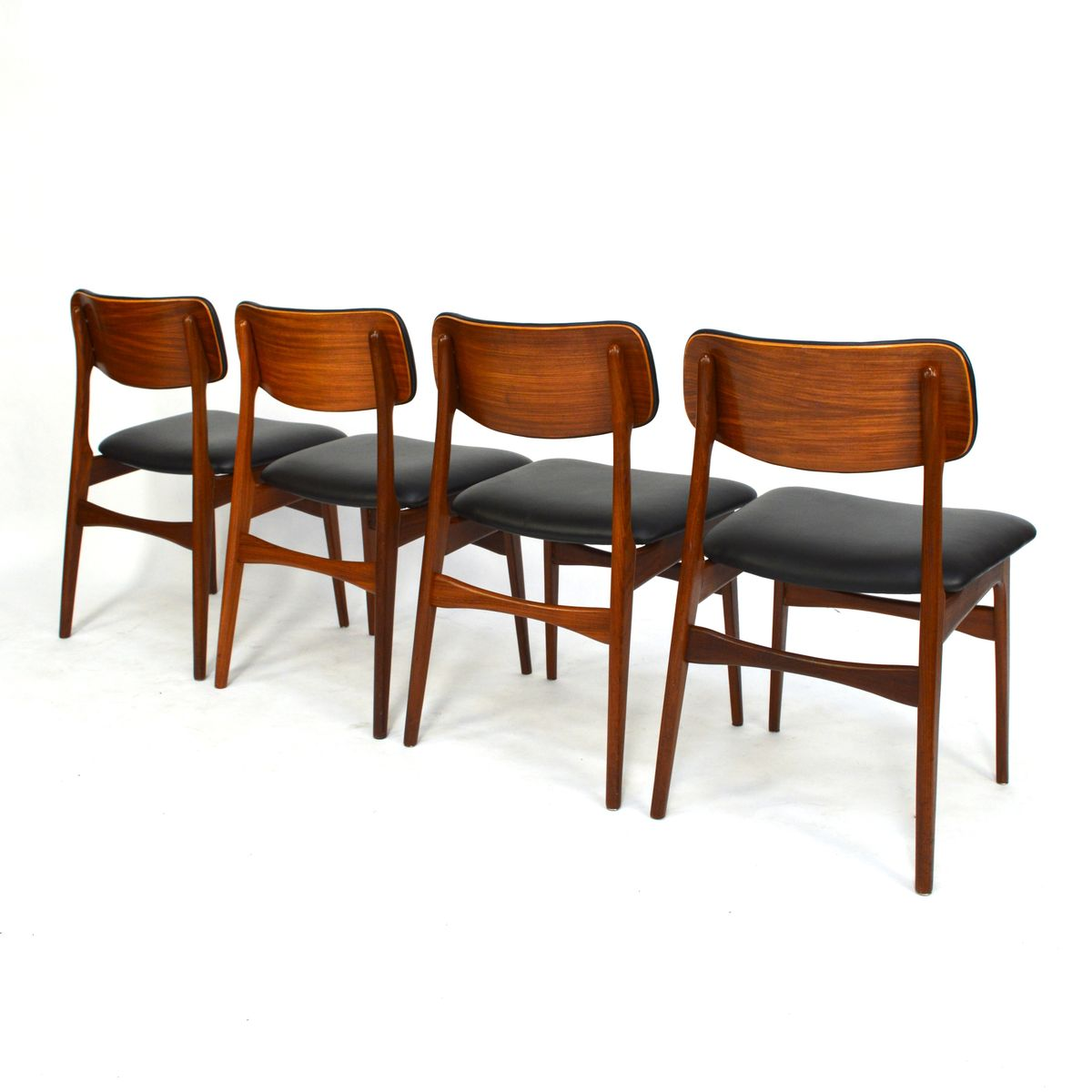 Scandinavian Dining Room Chairs: Scandinavian Teak & Leather Dining Chairs, 1960s, Set Of 7