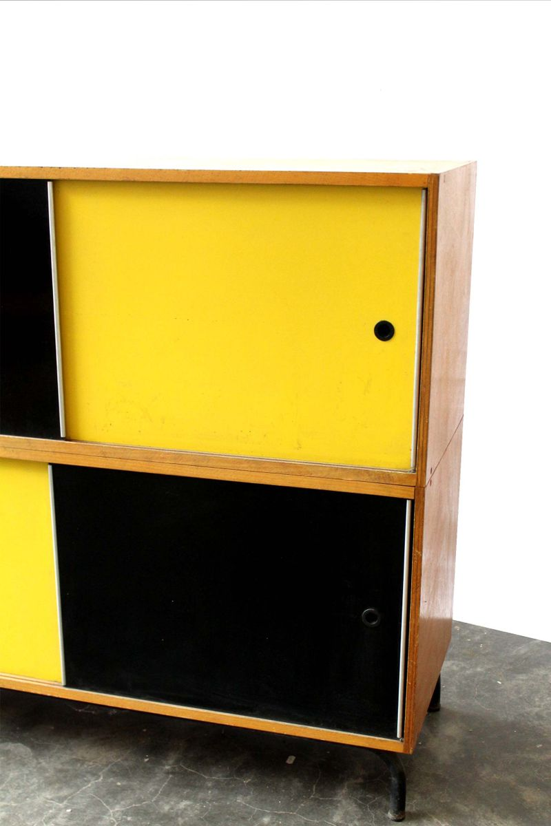 Vintage Cabinet With Sliding Door For Sale At Pamono