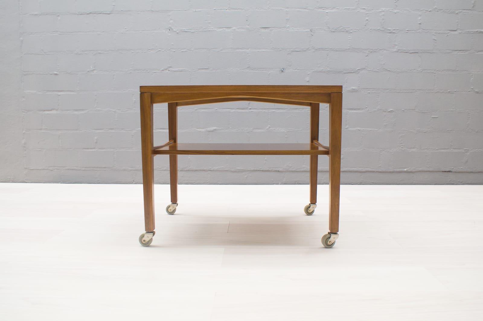 beistelltisch auf rollen von wilhelm renz 1960er bei. Black Bedroom Furniture Sets. Home Design Ideas