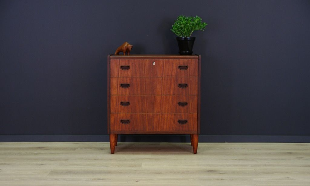 d nische mid century teak kommode bei pamono kaufen. Black Bedroom Furniture Sets. Home Design Ideas