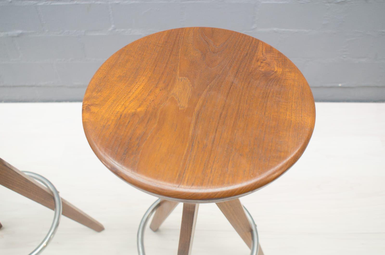 d nische teak barhocker von p j 1960er 4er set bei. Black Bedroom Furniture Sets. Home Design Ideas
