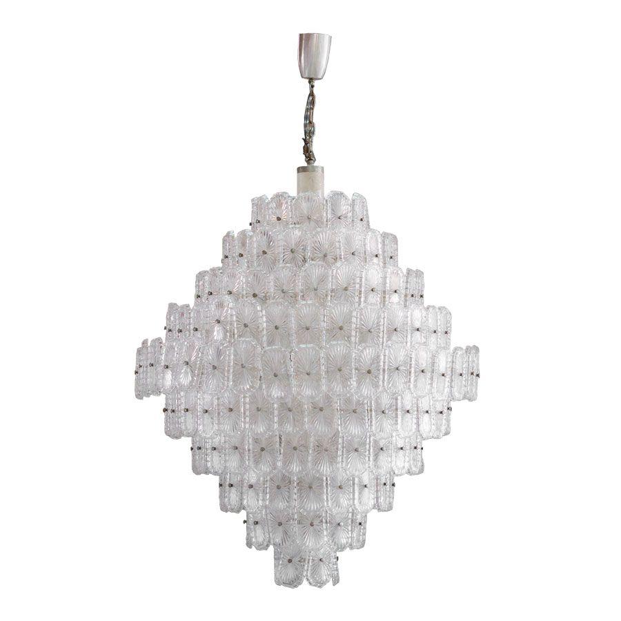 italienische kristall lampe 1960er bei pamono kaufen. Black Bedroom Furniture Sets. Home Design Ideas