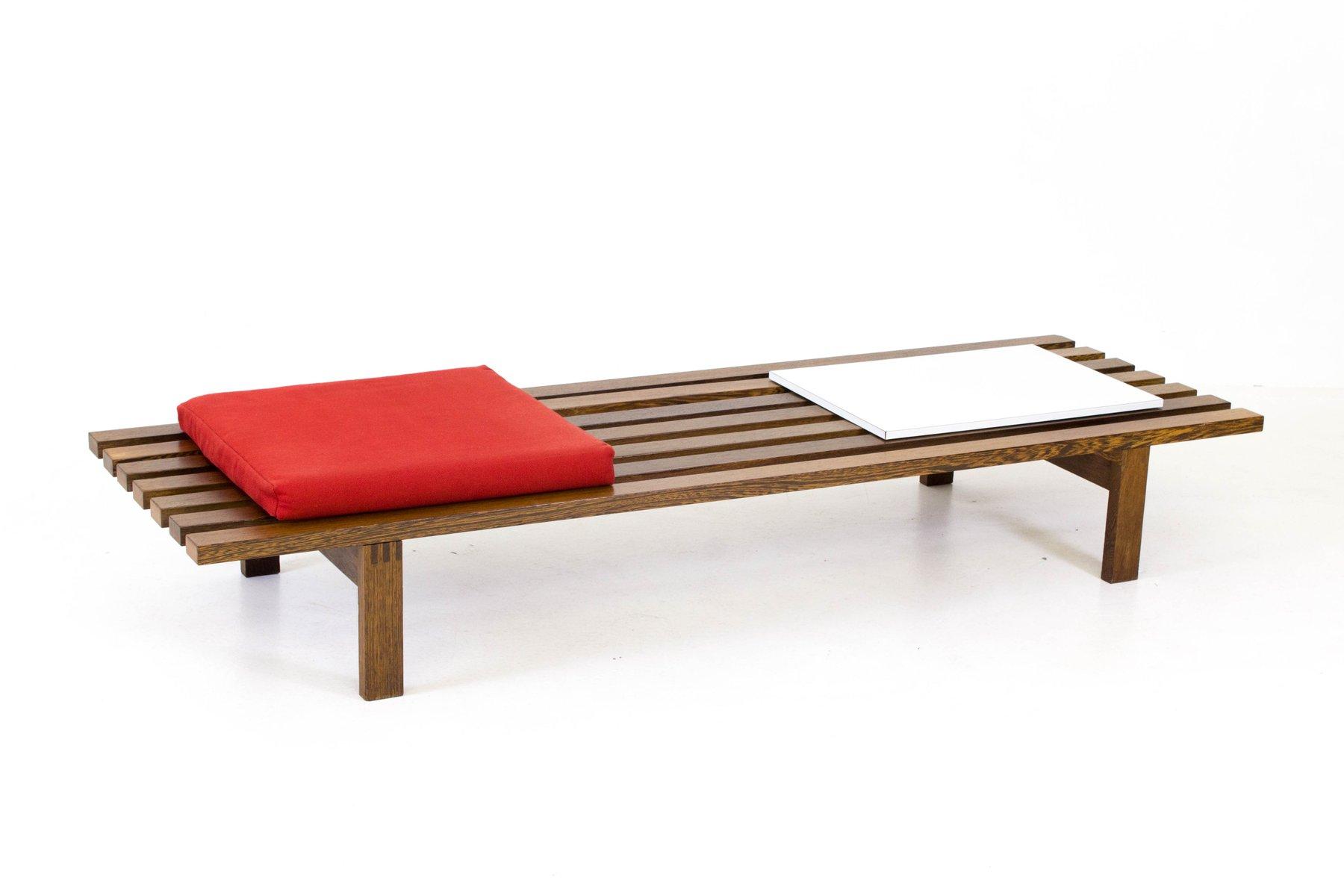 Mid Century Modern Slat Bench by Martin Visser for t