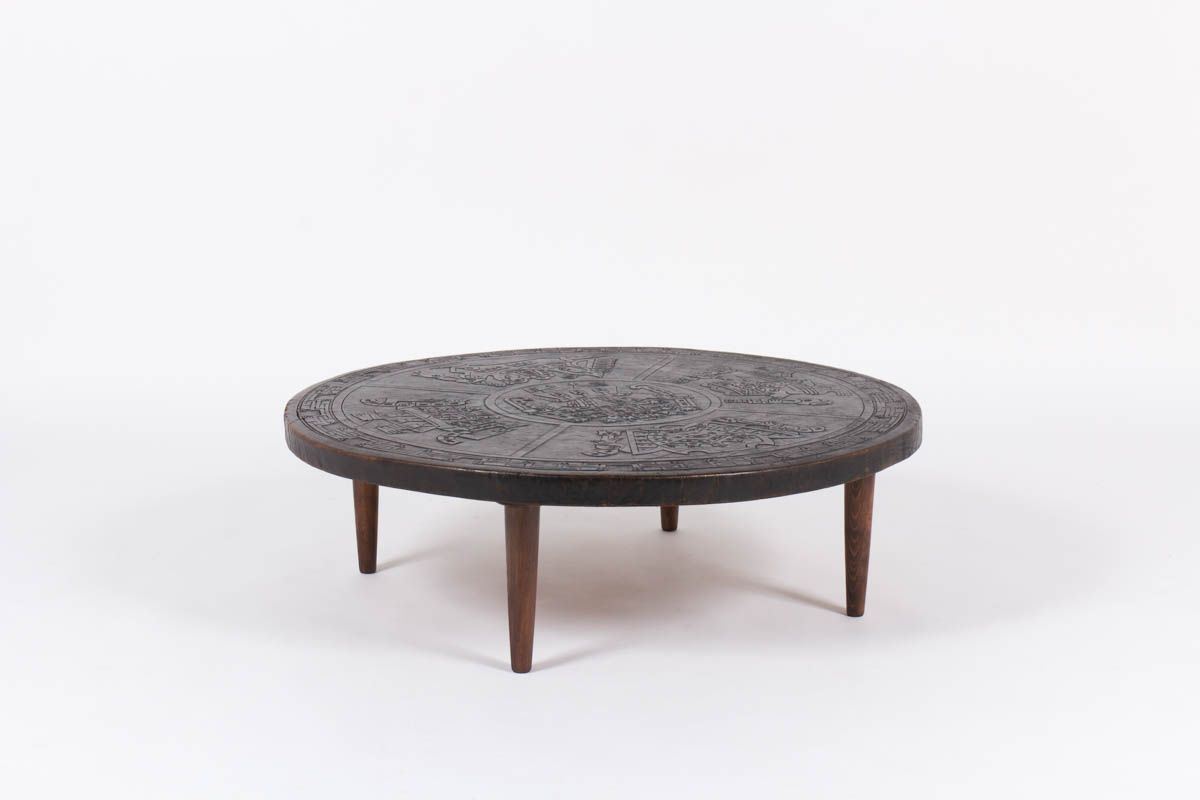 Vintage coffee table by angel i pazmino for muebles de for Estilo vintage
