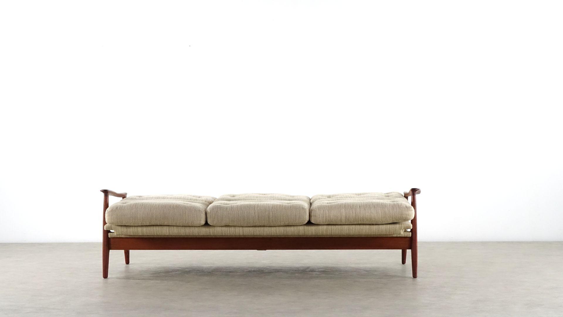 Mid century modern teak daybed by eugen schmidt for for Mid century modern day bed