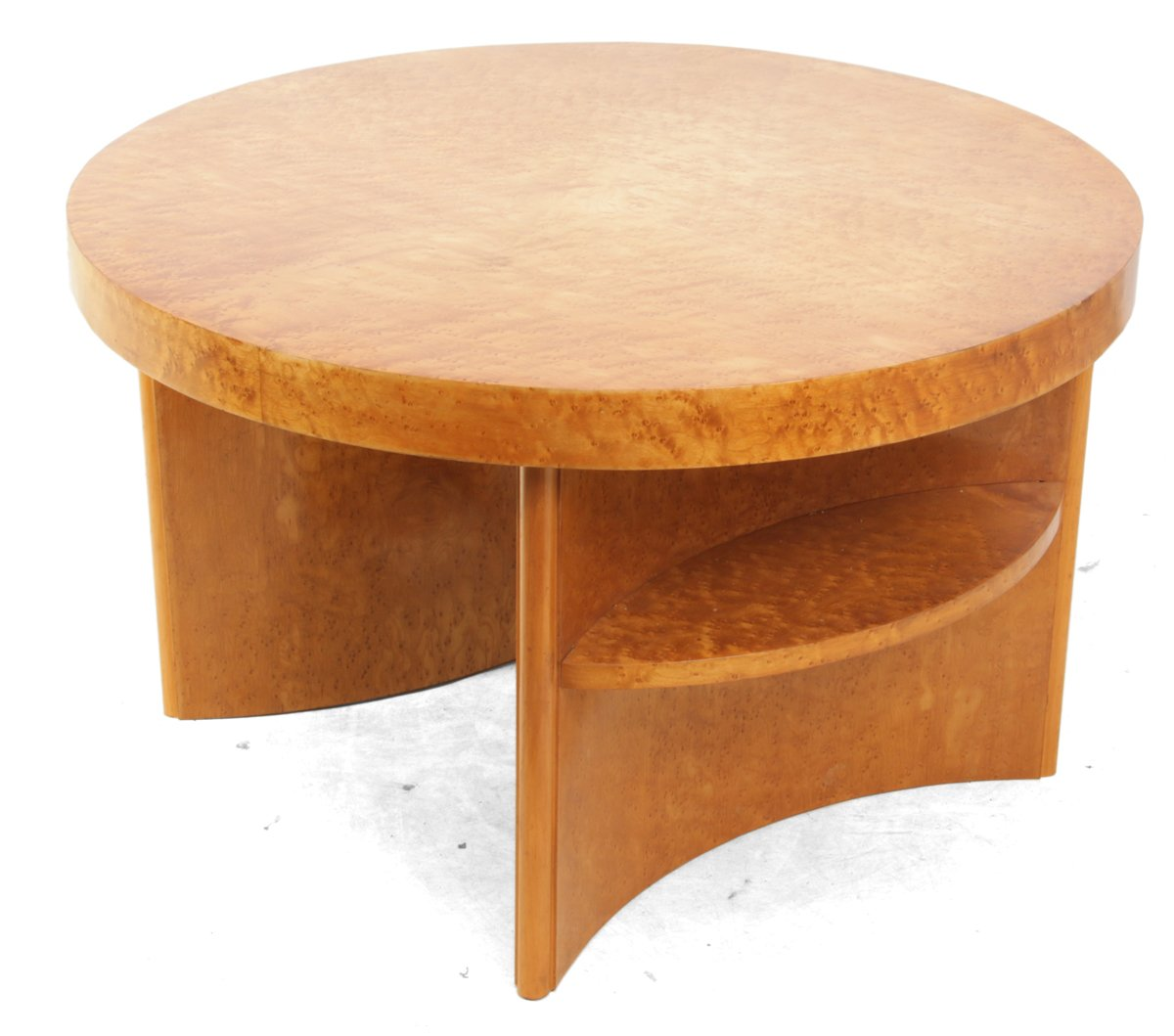 Art Deco Birds Eye Maple Coffee Table For Sale At Pamono