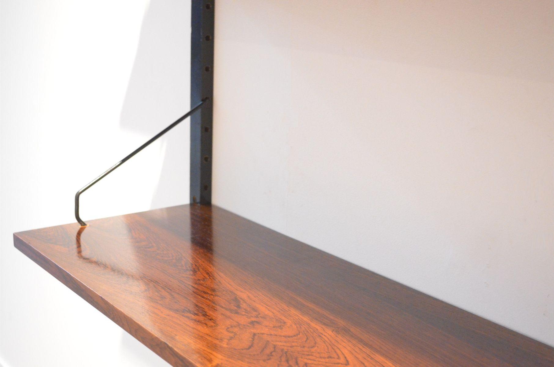 mid century regalsystem aus palisander furnier und metall. Black Bedroom Furniture Sets. Home Design Ideas