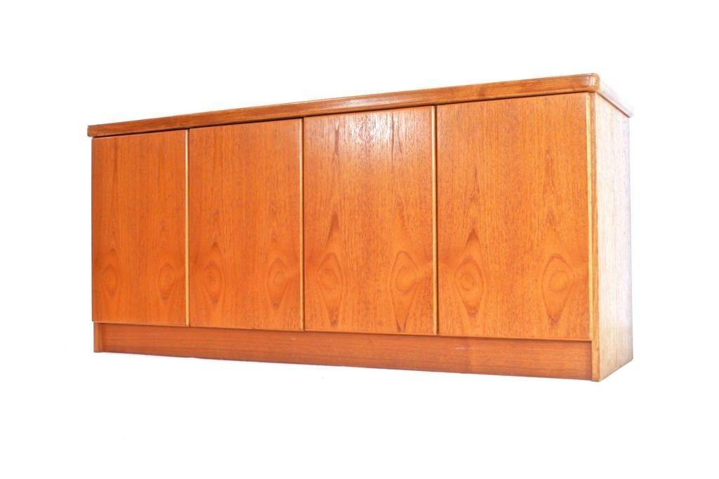 vintage danish teak sideboard by christian linneberg. Black Bedroom Furniture Sets. Home Design Ideas