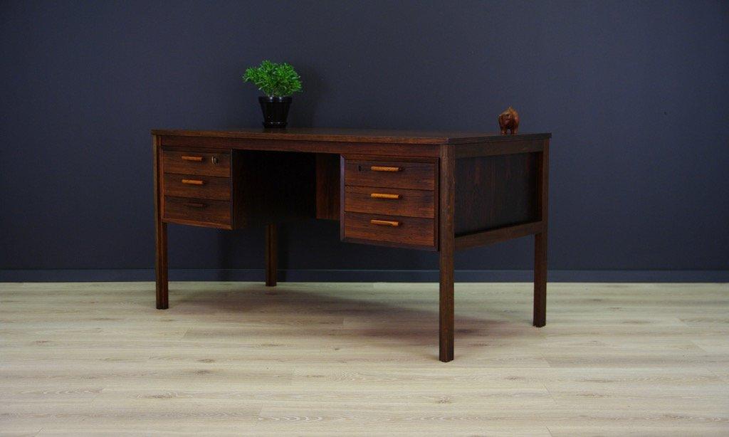 vintage palisander furnier schreibtisch bei pamono kaufen. Black Bedroom Furniture Sets. Home Design Ideas