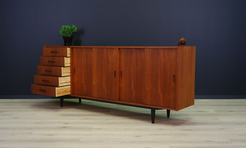 d nisches vintage sideboard aus teak furnier bei pamono kaufen. Black Bedroom Furniture Sets. Home Design Ideas