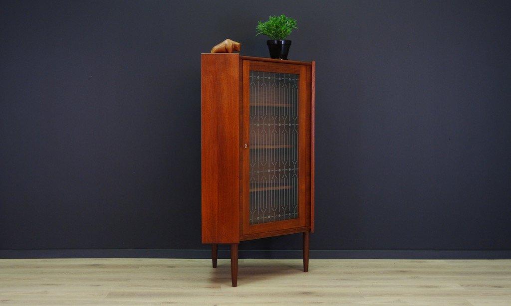 Mid Century Danish Teak Veneer Corner Cabinet