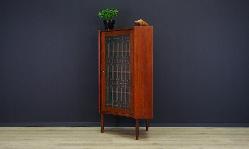Mid Century Corner Cabinet: Mid-Century Danish Teak Veneer Corner Cabinet For Sale At