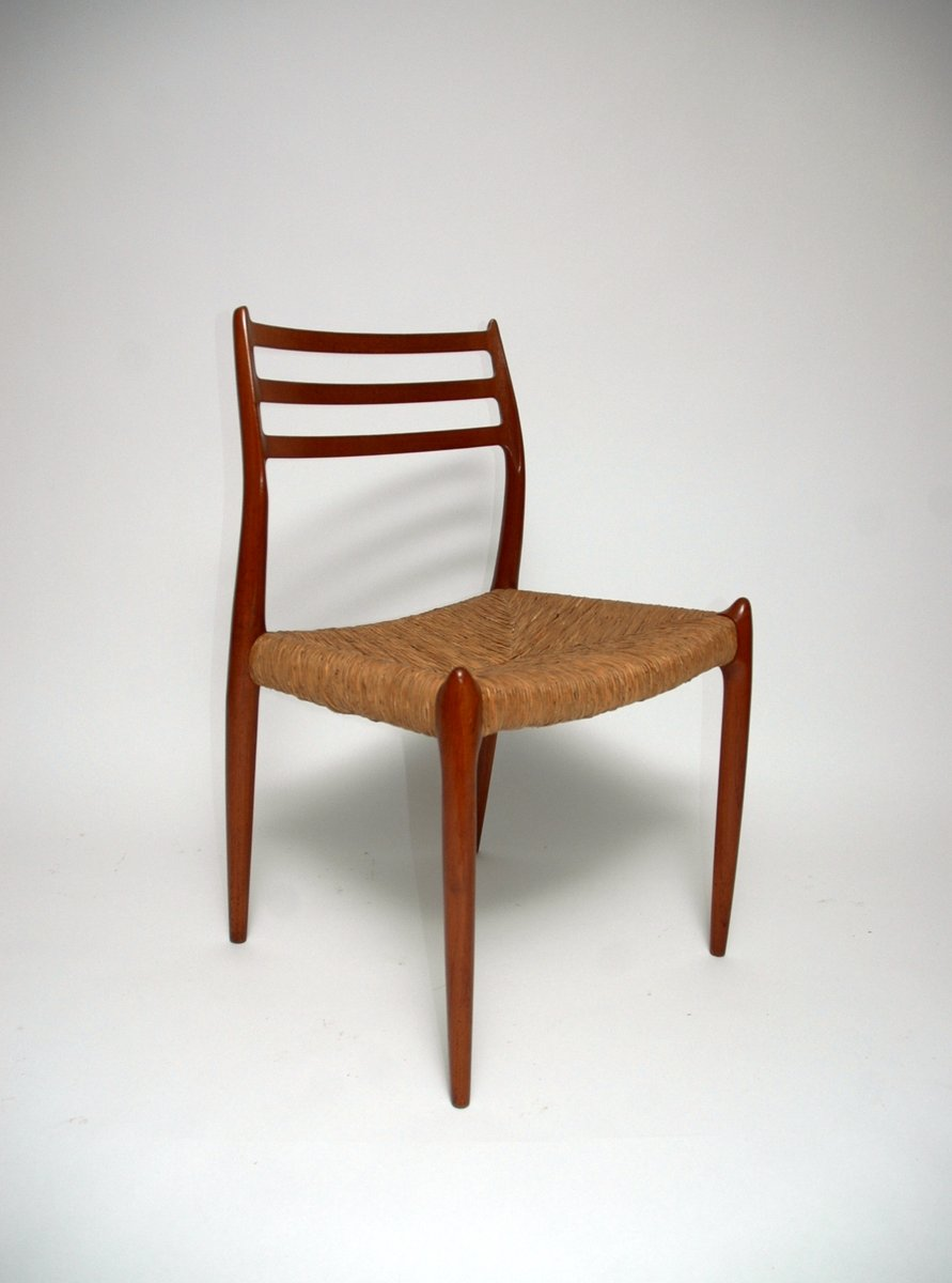 Vintage Moller Dining Chairs ~ Mid century model dining chairs by niels o moller for