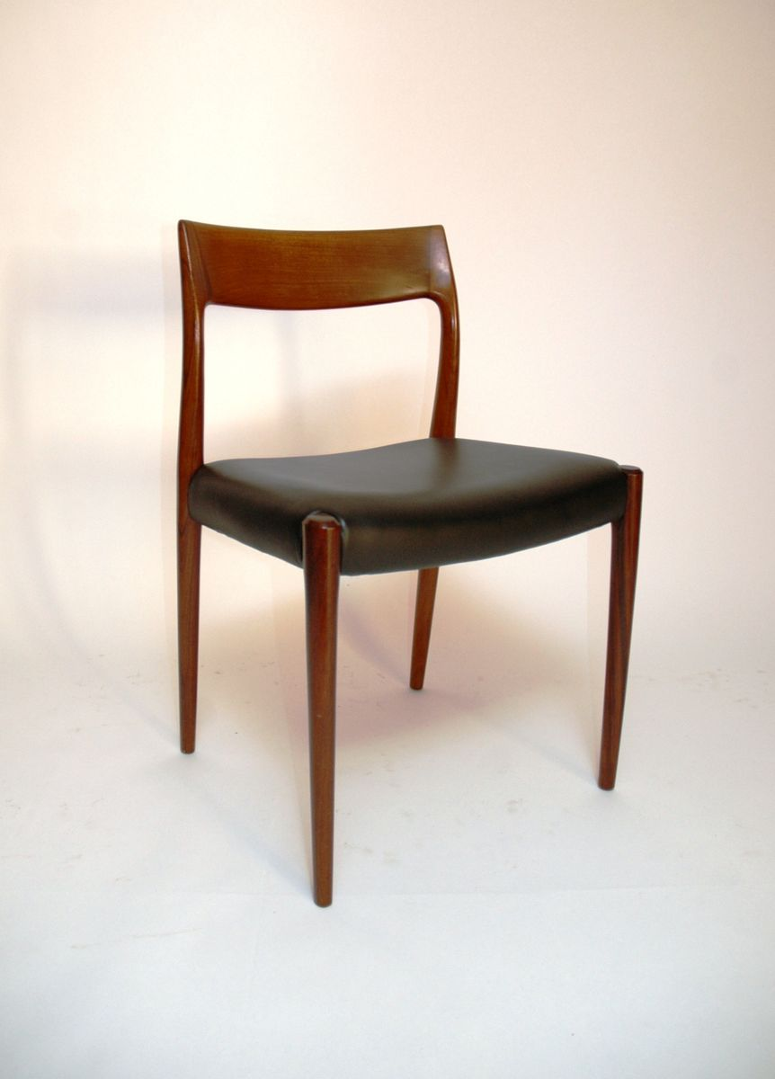 Vintage model dining chairs by niels o moller for j l