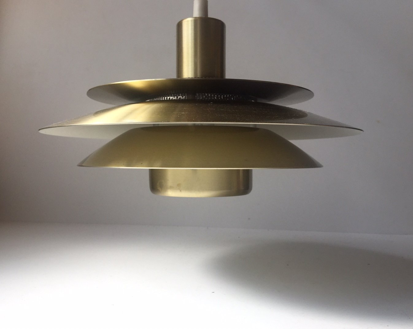 Price per piece & Vintage Danish Brass Tiered Pendant Lamp from Jeka 1970s for sale ... azcodes.com