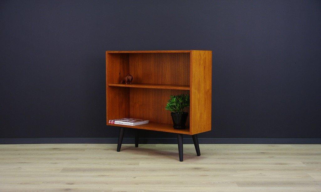 kleines d nisches vintage b cherregal mit teak furnier bei. Black Bedroom Furniture Sets. Home Design Ideas
