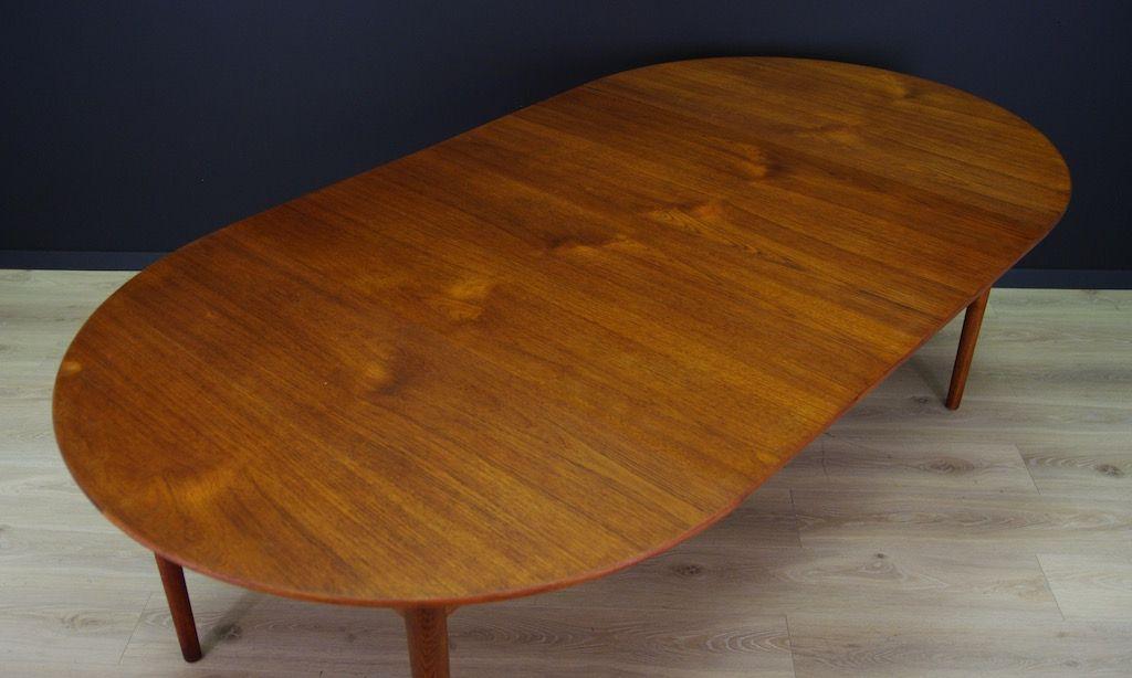Mid century teak furnier tisch bei pamono kaufen for Tisch teak design