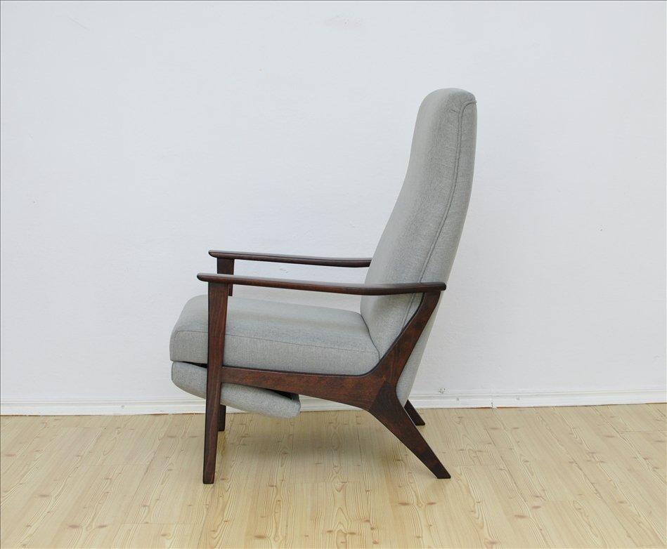 sessel mit klappfu st tze 1960er bei pamono kaufen. Black Bedroom Furniture Sets. Home Design Ideas