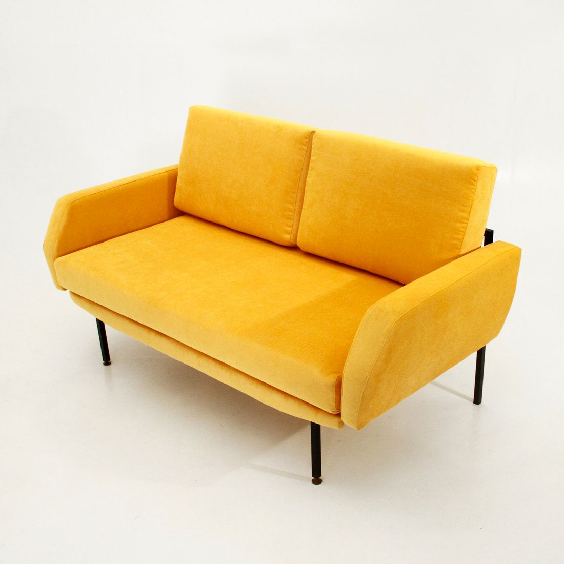 Yellow Sofa Bed Clic And Functional Anfibio