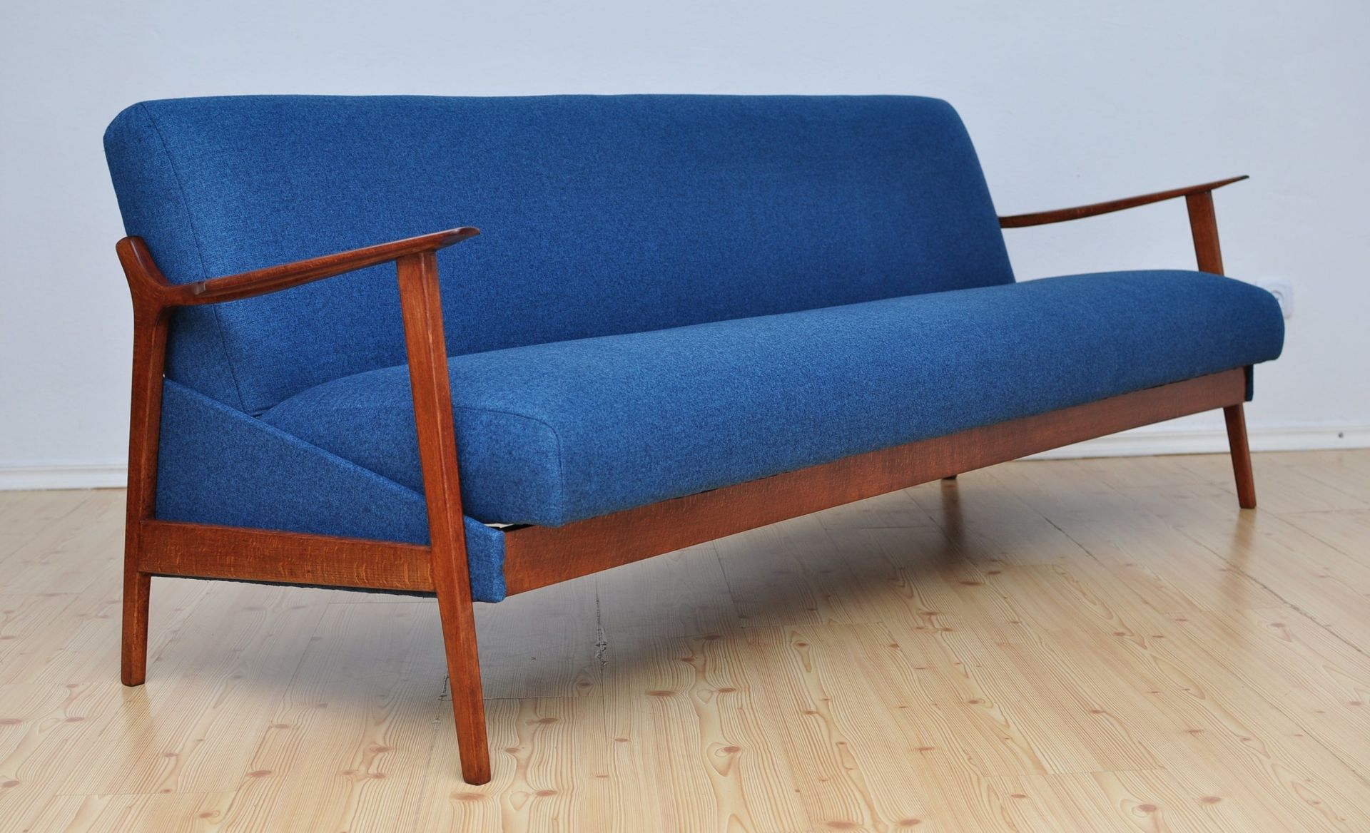 Navy Blue Fold Out Sofa 1960s For Sale At Pamono