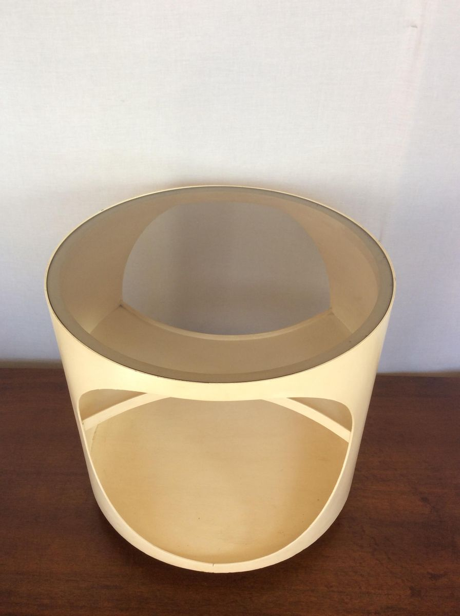 Mid Century Side Table In Bentwood By Opal Möbel