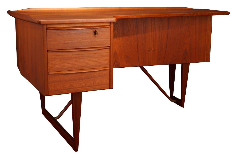Mid-Century Boomerang Desk by Peter Lvig Nielsen for Hedensted Mbilfabrik