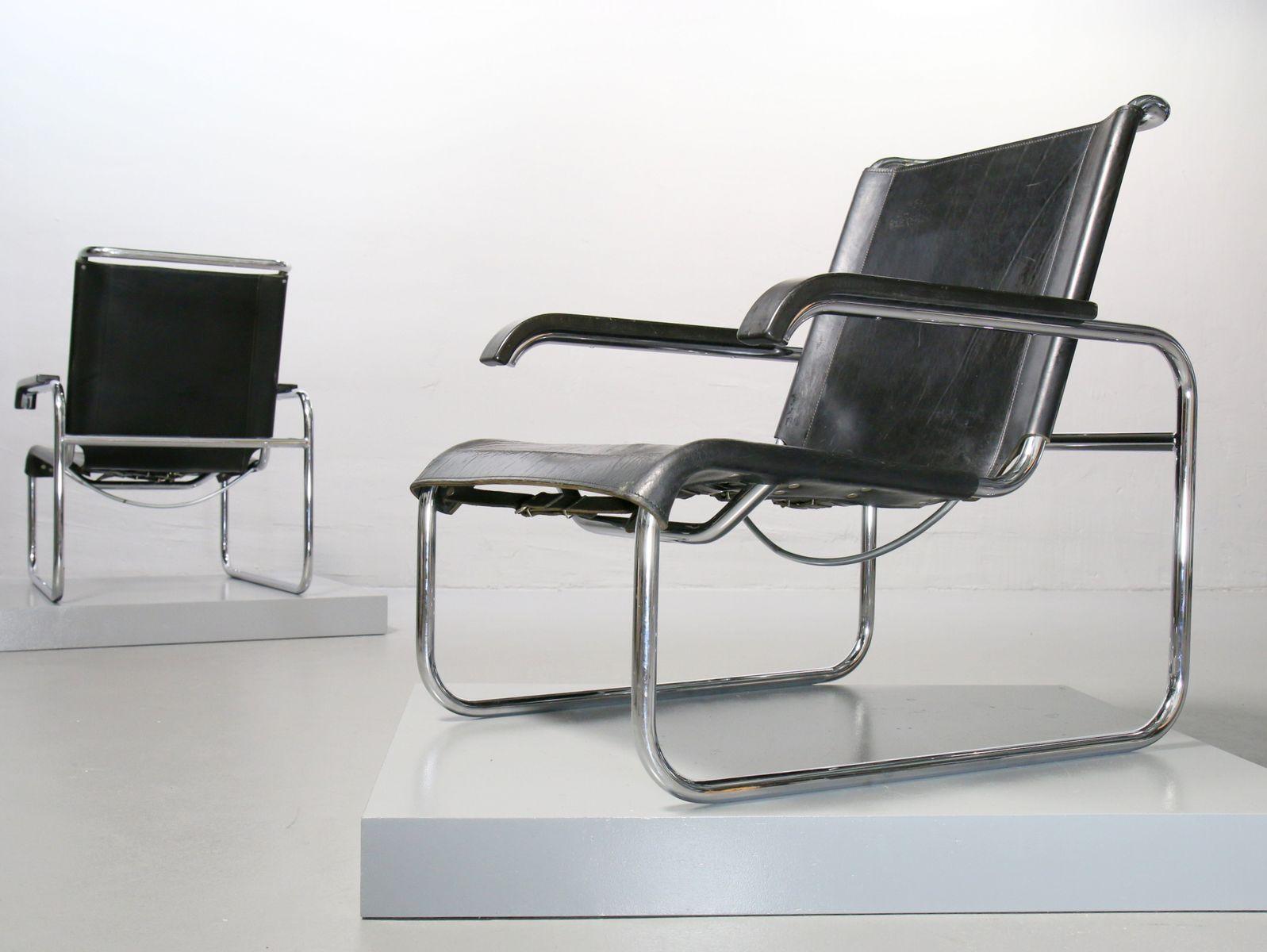s 35 armchair in tubular steel by marcel breuer for thonet. Black Bedroom Furniture Sets. Home Design Ideas