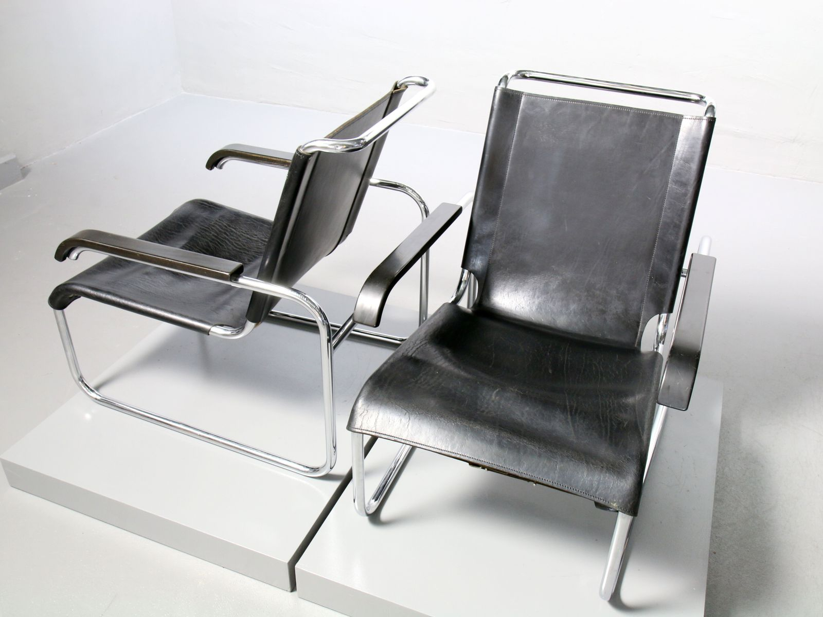 S 35 Armchair in Tubular Steel by Marcel Breuer for Thonet 1970s