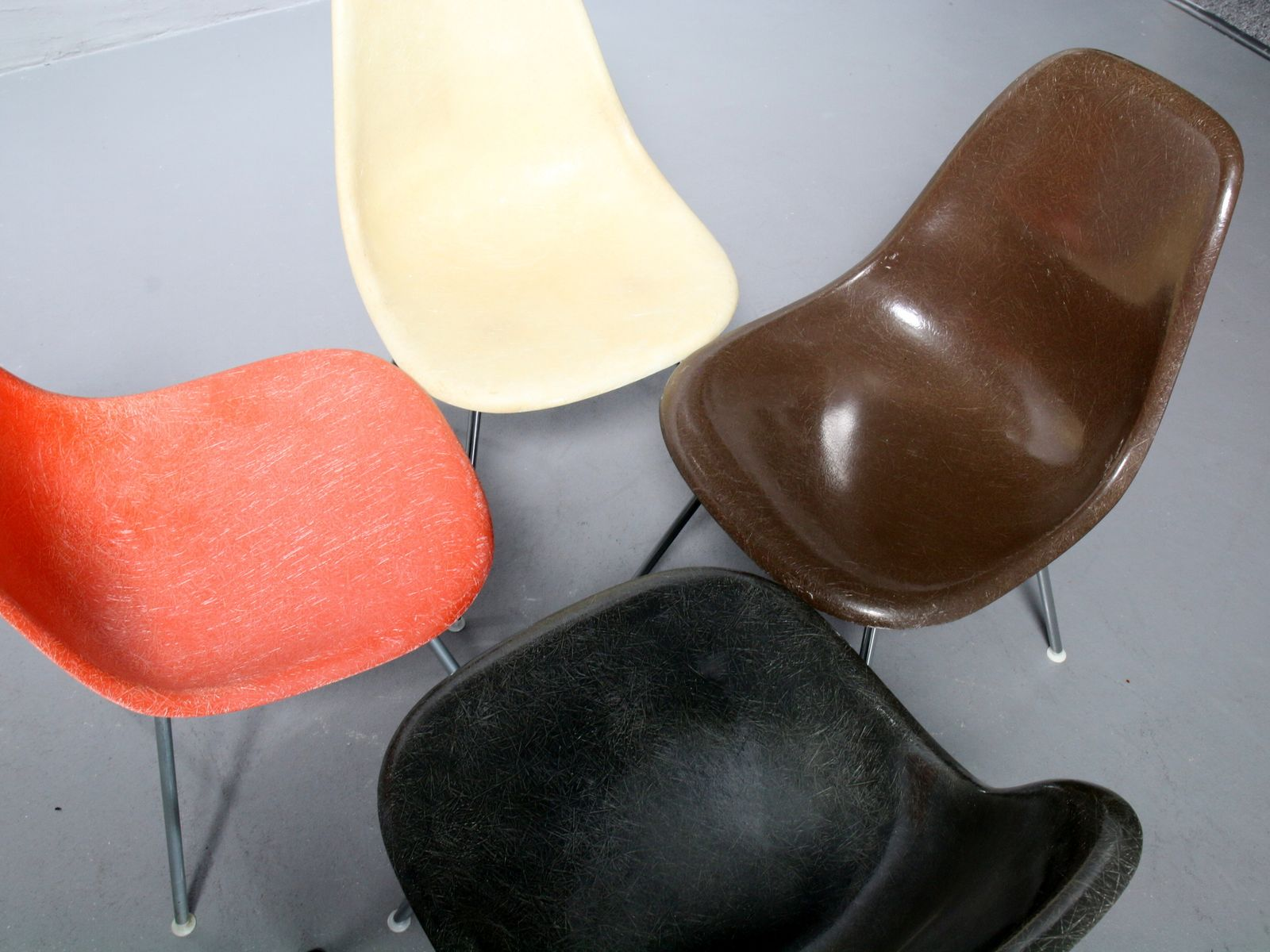 Vintage Fiberglass Side Chairs by Charles & Ray Eames for Vitra
