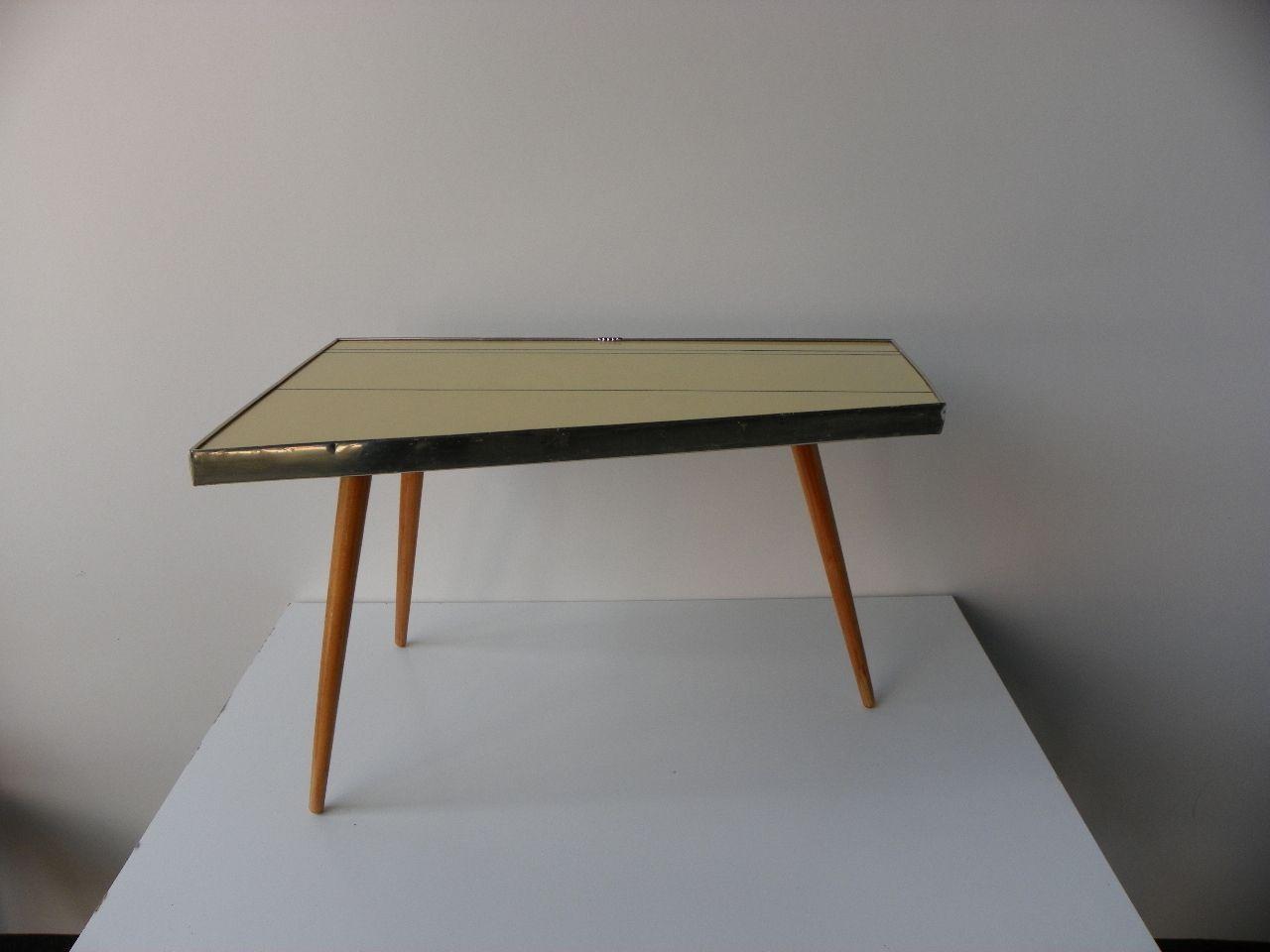 Tavolino tripode in legno di formica anni 39 60 in vendita for Tavolino anni 60 design