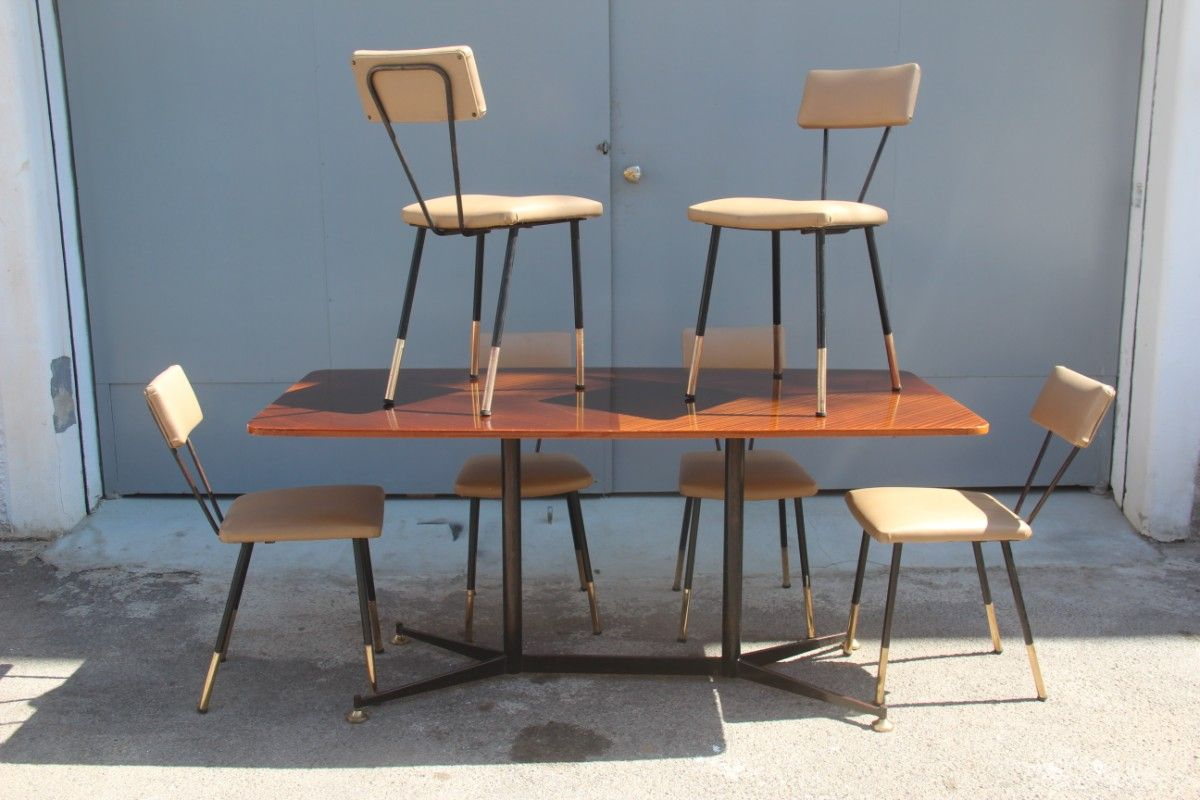 Italian dining table with chairs 1950s for sale at pamono for Dinner table chairs sale