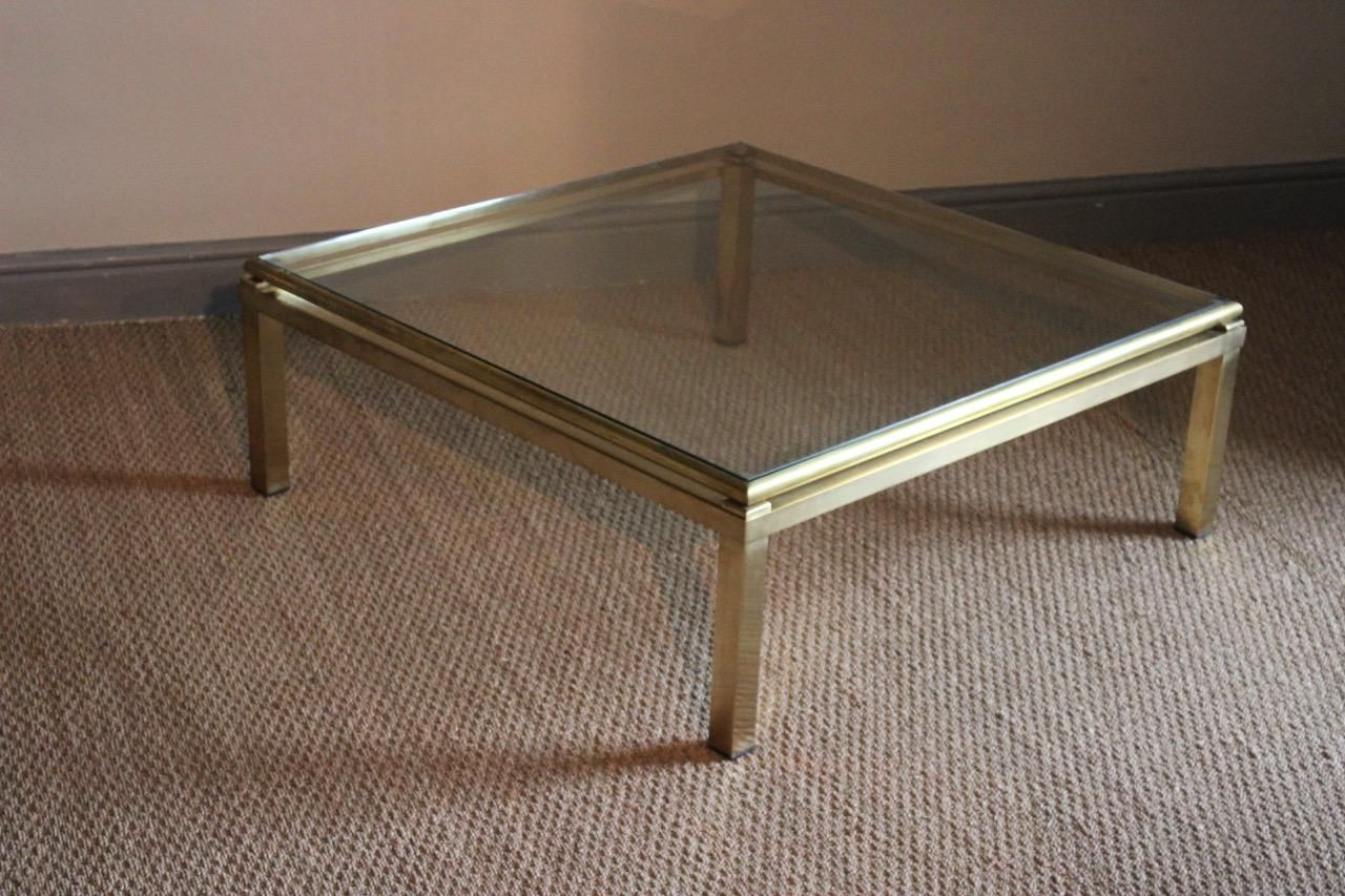 Square Brass Coffee Table 1960s for sale at Pamono