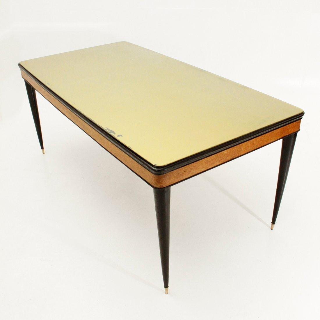 Italienischer esstisch mit glasplatte 1950er bei pamono for Esstisch englisch