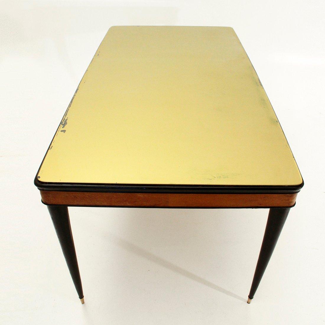 Italienischer esstisch mit glasplatte 1950er bei pamono for Esstisch glasplatte