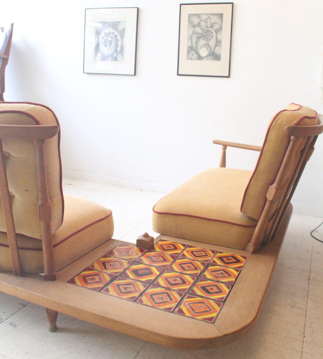 canap pour coin avec table basse int gr e par guillerme chambron pour votre maison 1950s en. Black Bedroom Furniture Sets. Home Design Ideas