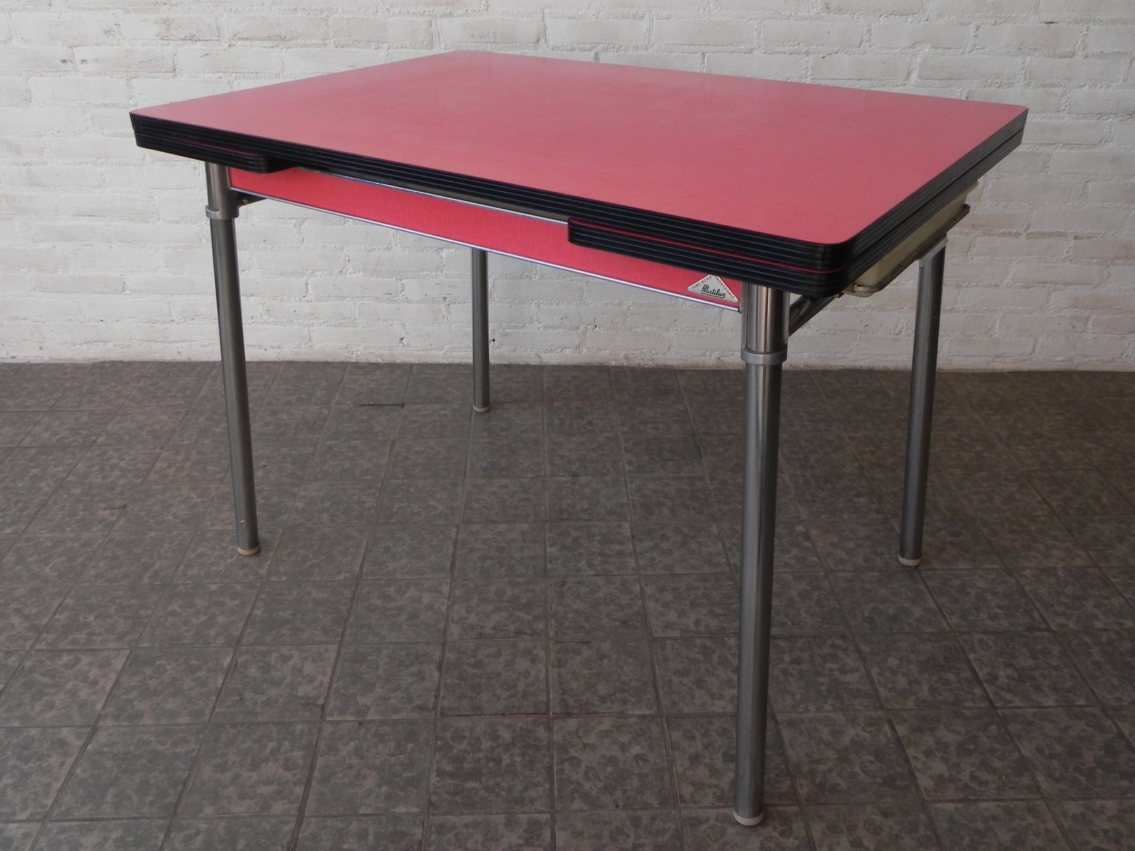 Vintage Extendable Dining Table From Plastilux For Sale At