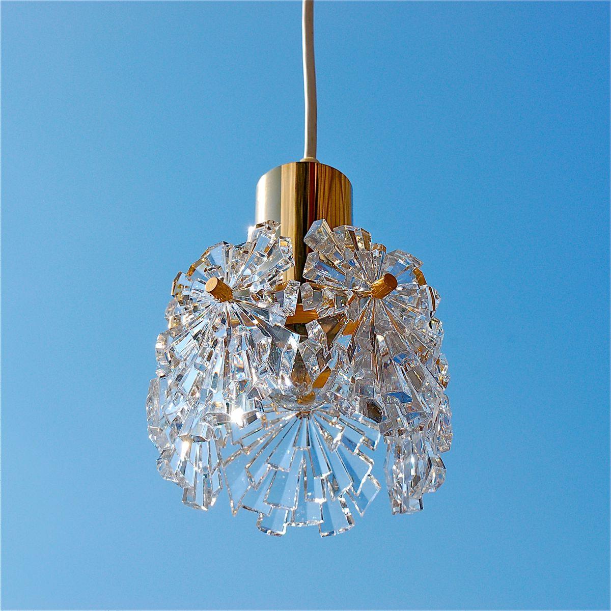 deutsche mid century modern kristallglas h ngelampen von. Black Bedroom Furniture Sets. Home Design Ideas