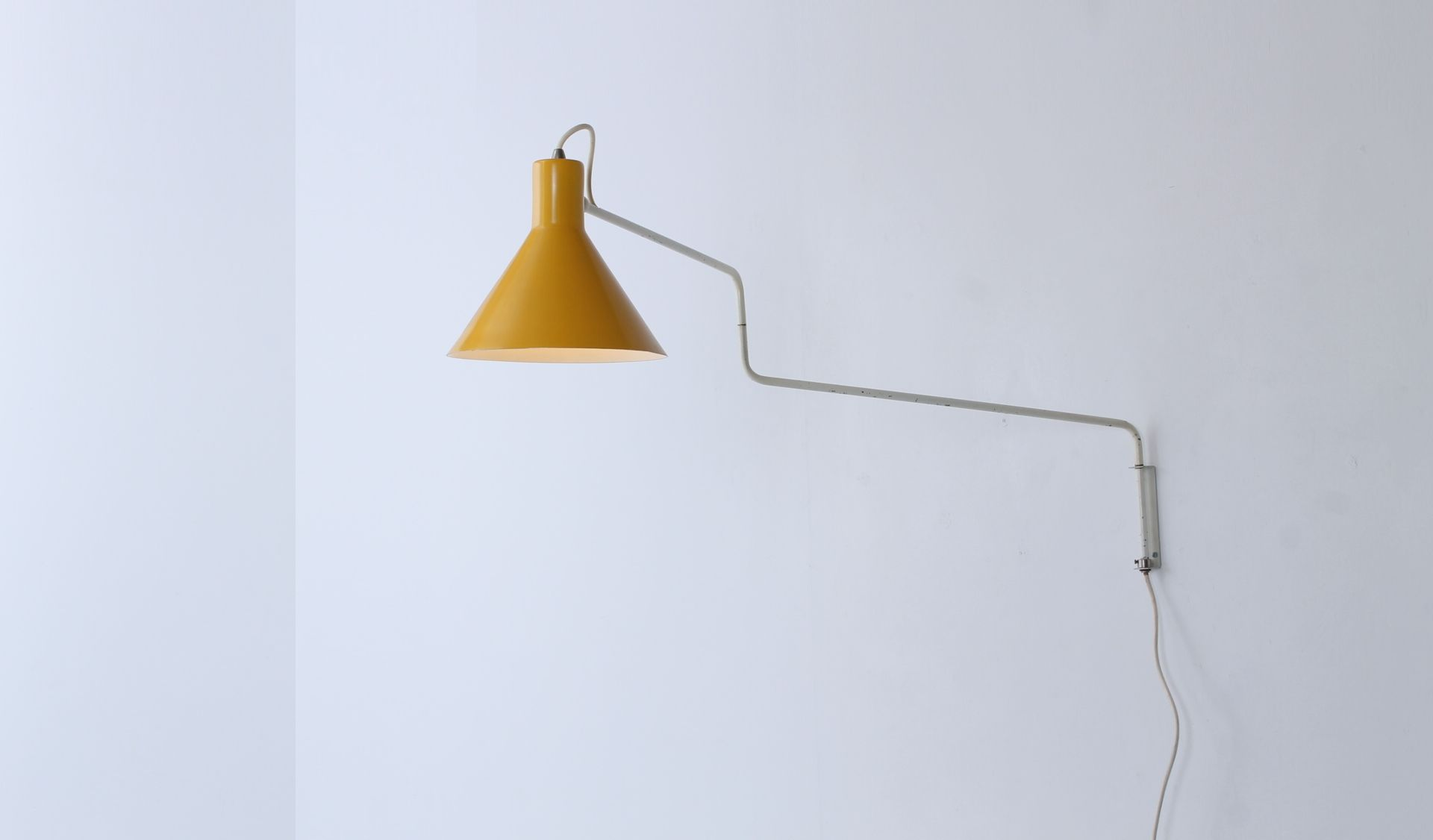 748-08 Swing Arm Lamp in Yellow and White by J. J. M. Hoogervorst ...