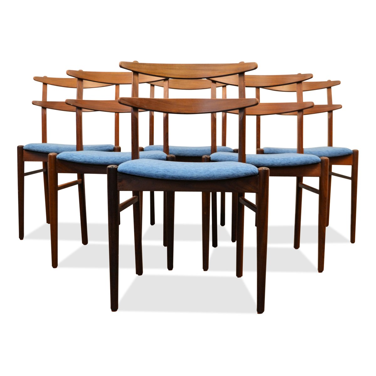 Danish teak dining chairs 1960s set of 6 for sale at pamono for Set of 6 dining chairs