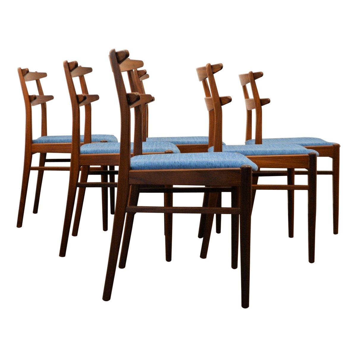 d nische teak esszimmerst hle 1960er 6er set bei pamono. Black Bedroom Furniture Sets. Home Design Ideas