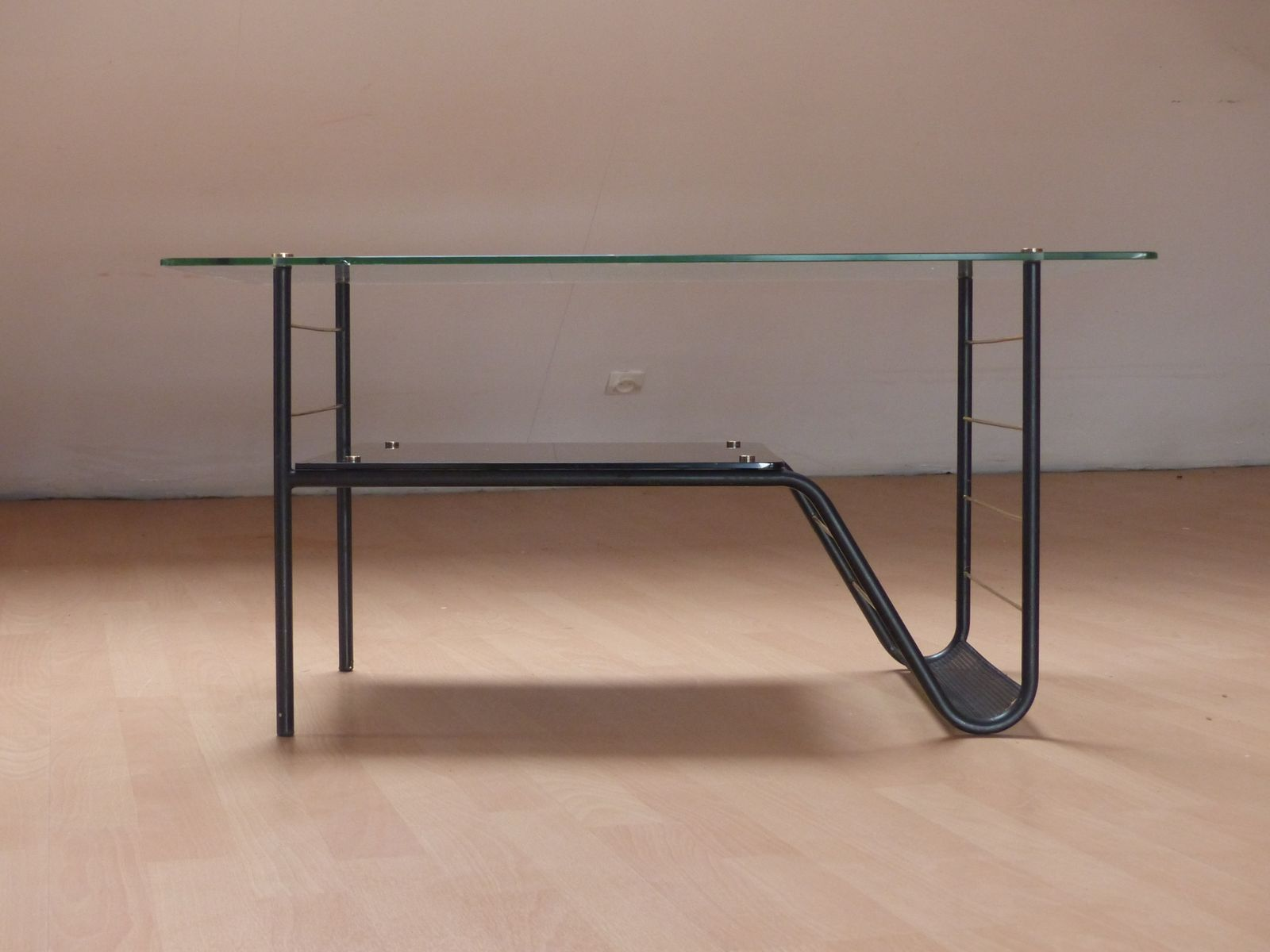 Vintage Glass Coffee Table By Pierre Guariche For Sale At Pamono