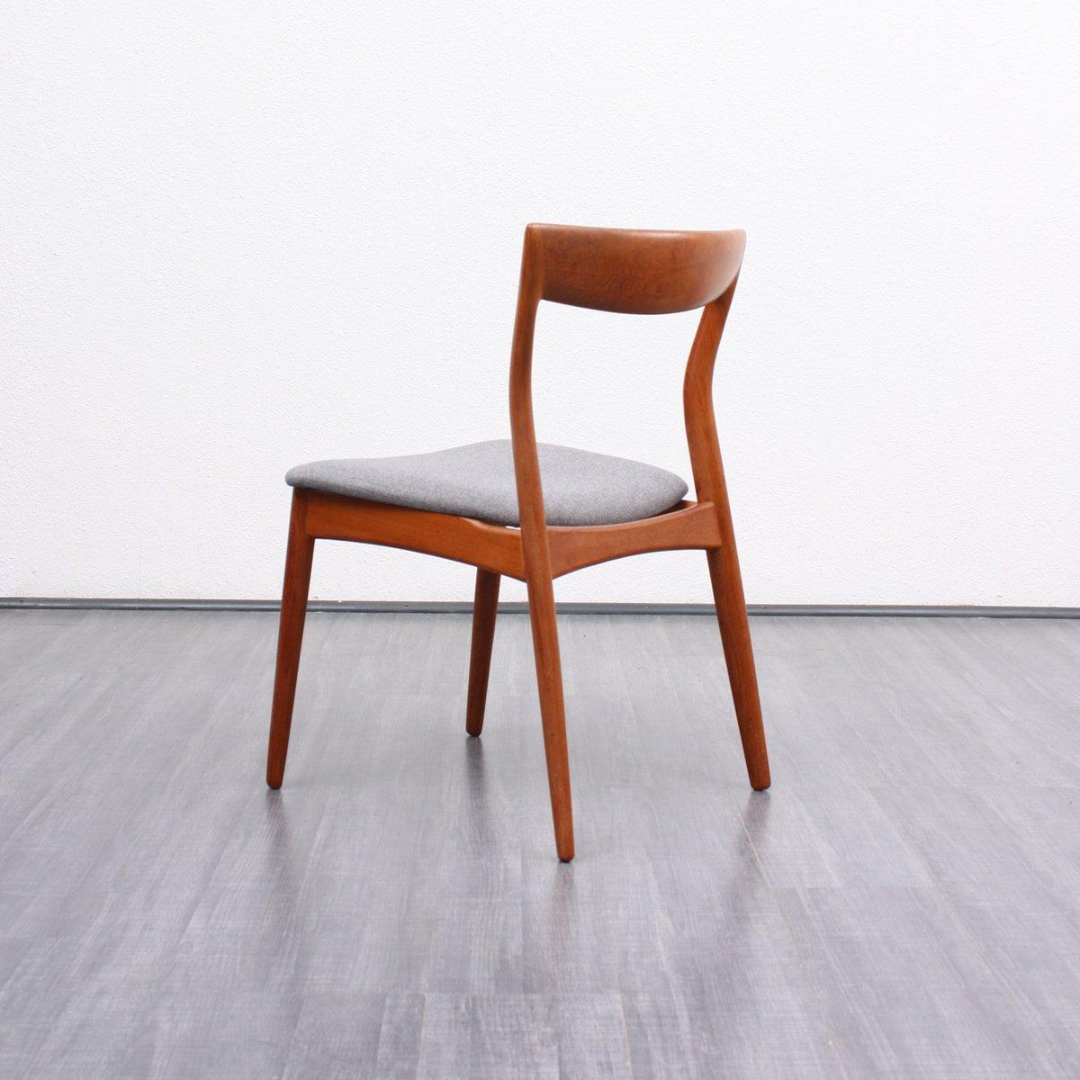 vintage danish teak dining chairs set of 4 for sale at pamono. Black Bedroom Furniture Sets. Home Design Ideas