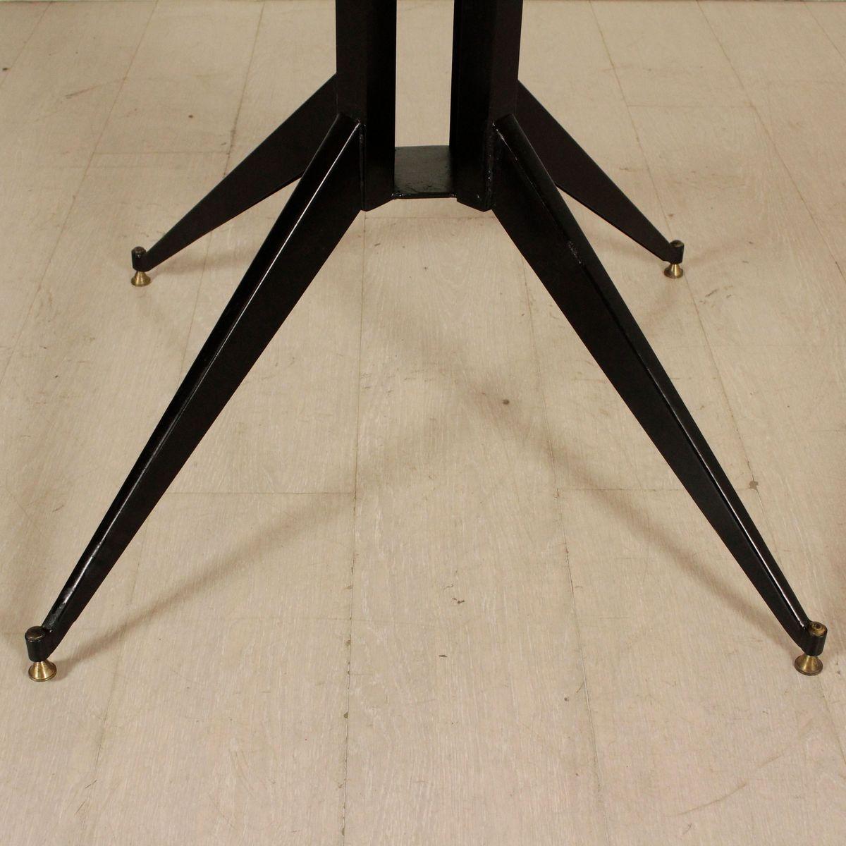 italienischer vintage tisch aus metall holz bei pamono kaufen. Black Bedroom Furniture Sets. Home Design Ideas