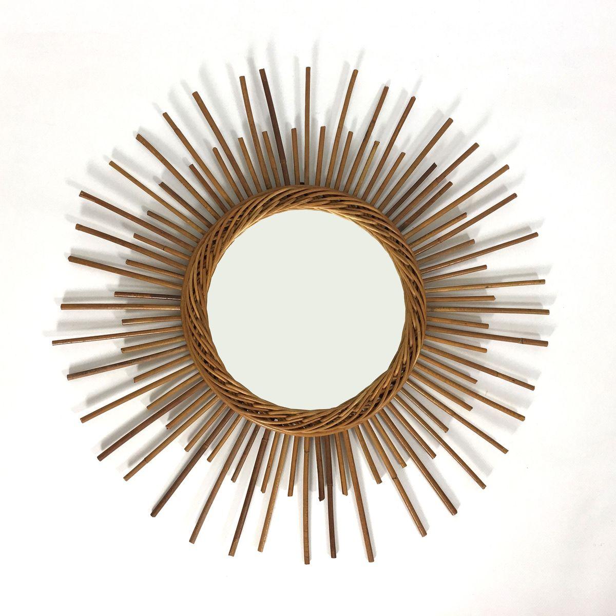 Miroir en forme de soleil france 1960s en vente sur pamono for Miroir forme soleil