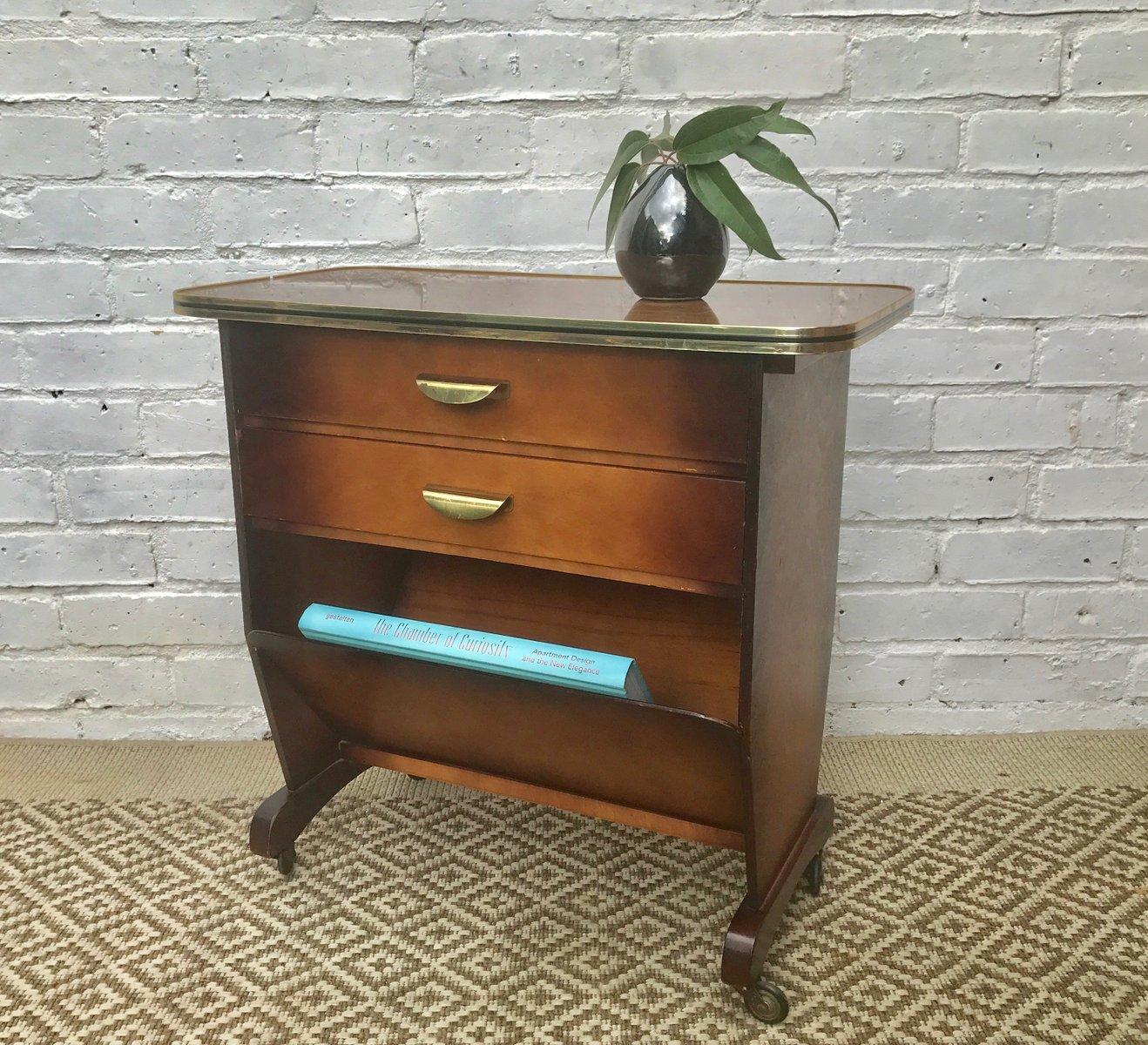 vintage beistelltisch mit zeitschriftenhalter bei pamono kaufen. Black Bedroom Furniture Sets. Home Design Ideas